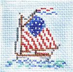 SWB1025 Flag Boat 2.5X2.5 18 Mesh Cooper Oaks Designs