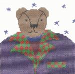 JC241 Bear Ornament 5X4.5 18 Mesh Cooper Oaks Designs
