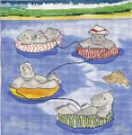 SVG614 Floating the River 8X8 18 Mesh Cooper Oaks Designs