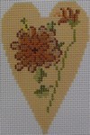 563A NeedleDeeva 18 Mesh 2.25X3.5 Fall Flower Heart