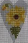 563F NeedleDeeva 18 Mesh 2.25X3.5 Sunflower Heart