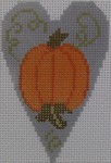 563B NeedleDeeva 18 Mesh 2.25X3.5 Pumpkin Heart