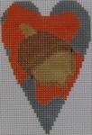 563G NeedleDeeva 18 Mesh 2.25X3.5 Acorn Heart