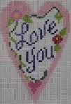 570D NeedleDeeva 18 Mesh 2.25X3.5  Love You Heart