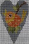 563L NeedleDeeva 18 Mesh 2.25X3.5 Fall Bird Heart