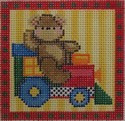 1317 NeedleDeeva 18 Mesh 3x3  Bear and Train