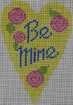 570A  NeedleDeeva 18 Mesh 2.25X3.5 Be Mine Heart