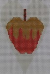 563H NeedleDeeva 18 Mesh 2.25X3.5 Candy Apple Heart