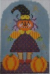 401 NeedleDeeva 2.5 x 3.75 18 Mesh Pumpkina Bitchy Witchy