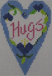 570B NeedleDeeva 18 Mesh 2.25X3.5 Hugs Heart