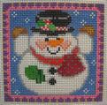 1313 NeedleDeeva 18 Mesh 3x3 Willie Winky Snowman