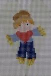 563I NeedleDeeva 18 Mesh 2.25X3.5 Scarecrow Heart