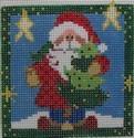 1320 NeedleDeeva 18 Mesh 3x3  Santa and the Tree