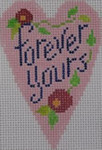 570C NeedleDeeva 18 Mesh 2.25X3.5 Forever Yours Heart