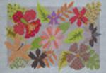 228 NeedleDeeva 9.25 x 11 13 Mesh Tropical Flowers