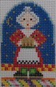 1353B  NeedleDeeva 1.75 x 2.6 18 Mesh Mrs. Claus