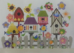 333 NeedleDeeva 11.5 x 8.5 18 Mesh Deeva's Birdhouse Garden