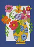 331 NeedleDeeva 8 x 11 18 Mesh Flowers in Yellow Vase
