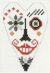 433I NeedleDeeva 2.5 x 3.5 18 Mesh Creepy Halloween Dude