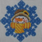 1345B NeedleDeeva 3.8 x 3.8 18 Mesh Melvina the Snow Woman