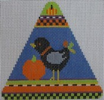 432E  NeedleDeeva 5x5 18 Mesh Crow and Pumpkin Creep 2013