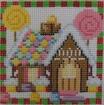 1365A NeedleDeeva 3 x 3 18 Mesh Gingerbread House