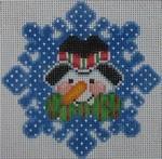 1345C NeedleDeeva 3.8 x 3.8 18 Mesh Percy the Snowman