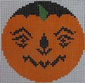 435E NeedleDeeva 2.66 x 2.66 18 Mesh Meanie Pumpkinface