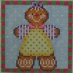 1365G NeedleDeeva 3 x 3 18 Mesh Gingerbread Girl