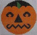 435A NeedleDeeva 2.66 x 2.66 18 Mesh Grumpy Pumpkinface