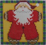 1365C NeedleDeeva 3 x 3 18 Mesh Gingerbread Santa