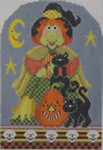 432 NeedleDeeva 5 x 7.25 18 Mesh Eunice the Cat Witch