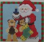 1365D NeedleDeeva 3 x 3 18 Mesh Santa and the Bears