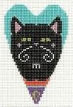 433L NeedleDeeva 2.5 x 3.5 18 Mesh Cester the Halloween Cat