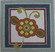 661B NeedleDeeva 6x6 18 Mesh Blue Flower