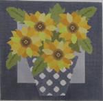 661H NeedleDeeva 9.25 x 9.25 13 Mesh Yellow Flowers
