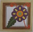 661C NeedleDeeva 6x6 18 Mesh Brown Flower