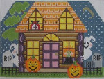 460 NeedleDeeva 5 x 7.5 18 Mesh Spooky's Halloween House