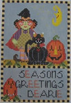 440C NeedleDeeva 4.5 x 7.5 18 Mesh Season's Greetings Dearie