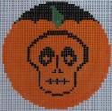 435I NeedleDeeva 2.66 x 2.66 18 Mesh Ghoulish Pumpkinface