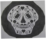 451 NeedleDeeva 8.5 x 7.5 18 Mesh Skull Vase