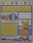 1105 NeedleDeeva 4.75 x 6.25 18 Mesh Bunny and Train Sampler