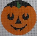 435C NeedleDeeva 2.66 x 2.66 18 Mesh Happy Pumpkinface