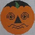 435D NeedleDeeva 2.66 x 2.66 18 Mesh Perplexed Pumpkinface