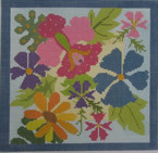 661E NeedleDeeva 6.75 x 6.75 18 Mesh The Bouquet