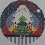 1363D NeedleDeeva 4.25 x 4.25 18 Mesh Santa and the Tree