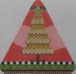 1370G NeedleDeeva 4.5 x 4.5 18 Mesh Gingerbread Spice Pine