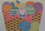 605B NeedleDeeva 5x7 18 Mesh Easter Egg Basket Front