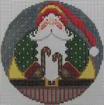 1363B NeedleDeeva 4.25 x 4.25 18 Mesh Santa and the Candy Canes