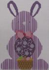 610C NeedleDeeva 4.75 x 6.75 18 Mesh Purple Bunny